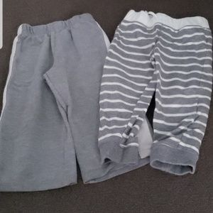 [Lot of 2] Grey White 24 months Sweatpants